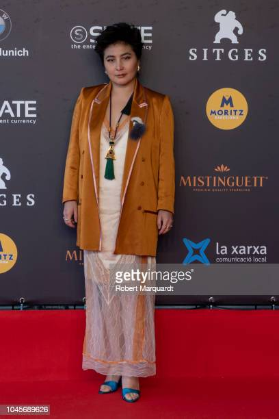 Josie Ho poses on the red carpet during the Sitges Film Festival 2018 at the Hotel Melia on October 4 2018 in Sitges Spain