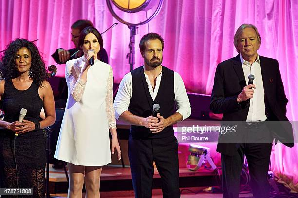 Josie James Sophie EllisBextor Alfie Boe and Justin Hayward perform at the Burt Bacharach A Life In Song concert at the Royal Festival Hall on June...