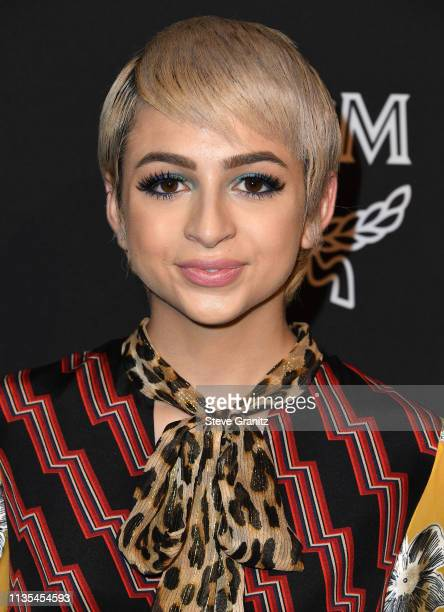 Josie Jay Totah arrives at the Marie Claire Change Makers Celebration at Hills Penthouse on March 12 2019 in West Hollywood California