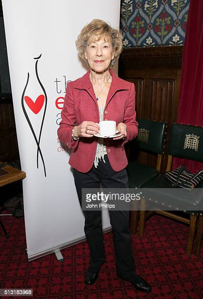 LONDON ENGLAND MARCH Josie Kidd attends The Eve Appeal afternoon tea party to mark the beginning of Ovarian Cancer Awareness Month at House of...