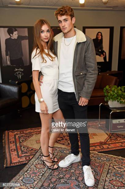 Josie Lane and Callum Chapman attend the launch of James Bay's new Topman collection at The Ace Hotel on August 8 2017 in London England