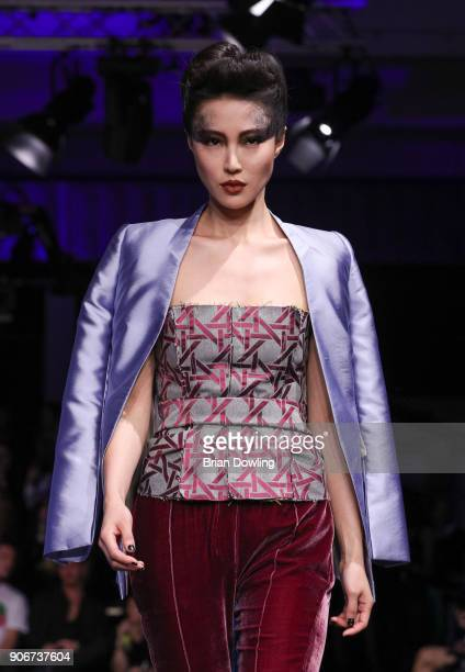 Josie Lin walks the runway during the Maybelline Show 'Urban Catwalk Faces of New York' at Vollgutlager on January 18 2018 in Berlin Germany
