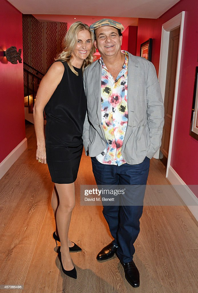 Josie Lindop (L) and Gerry Fox attend the VIP Gala Screening of 'Marc Quinn: Making Waves' at the Ham Yard Hotel on October 17, 2014 in London, England.