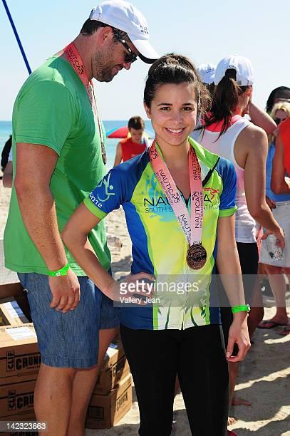 Josie Loren participates in the 5th Annual Nautica South Beach Triathlon to benefit St Jude Children's Research Hospital on April 1 2012 in Miami...