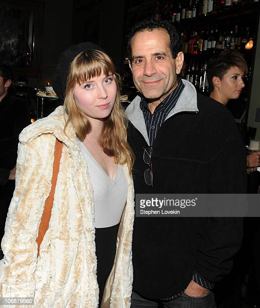 Josie Lynn Adams and father actor Tony Shalhoub attend the after party for the Cinema Society Sony Pictures Classics screening of Made In Dagenham at...