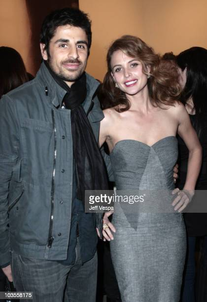 Josie Maran and husband Ali Alborzi attend the Gagosian Gallery Opening Reception For Julian Schnabel at Gagosian Gallery on February 212008 in...