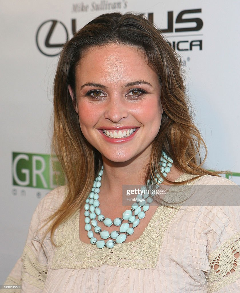 Josie Maran arrives at Green Lounge Eco Luxury Experience Earth Day Awards Presented By Lexus Santa Monica on April 22, 2010 in Santa Monica, California.