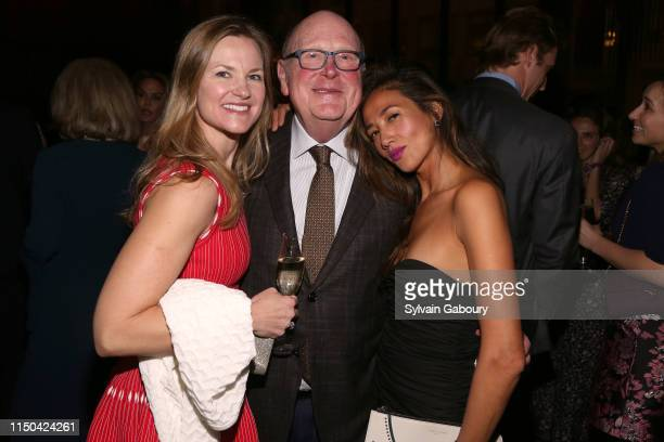 Josie Maynard Tom Tuft and Charlynne Kovach attend Cancer Research Institute Through The Kitchen Party at Seagram Building on May 19 2019 in New York...