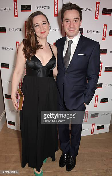 Josie Rourke Artistic Director of the Donmar Warehouse and director of The Vote and playwright James Graham attend a special screening of The Donmar...