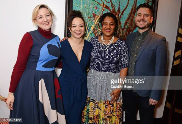 Josie Rourke Lynette Linton Lynn Nottage and Michael Longhurst attend the press night after party for Sweat at The Hospital Club on December 19 2018...