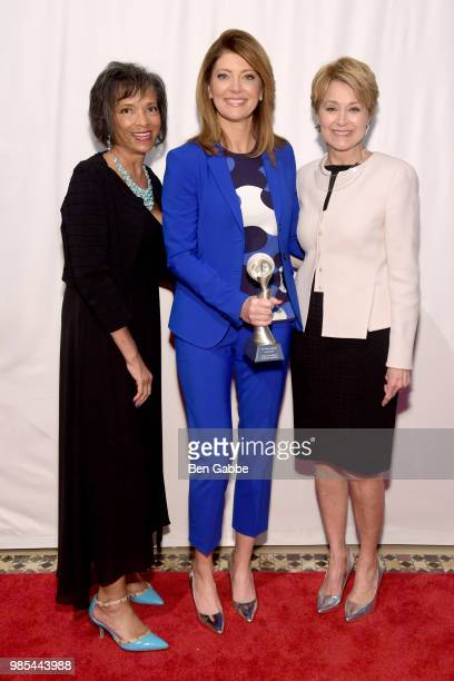 Josie Thomas Norah O'Donnell and Jane Pauley attend The Gracies presented by the Alliance for Women in Media Foundation at Cipriani 42nd Street on...