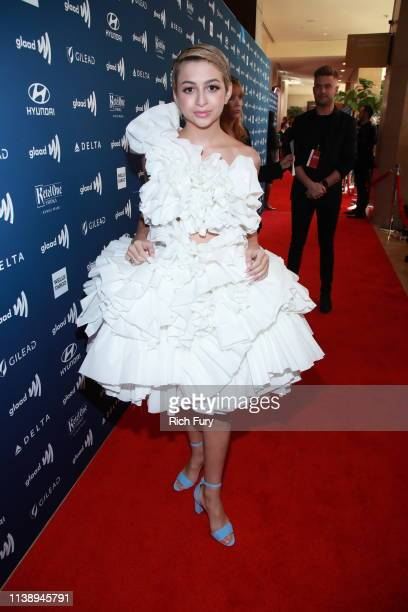 Josie Totah attends the 30th Annual GLAAD Media Awards Los Angeles at The Beverly Hilton Hotel on March 28 2019 in Beverly Hills California