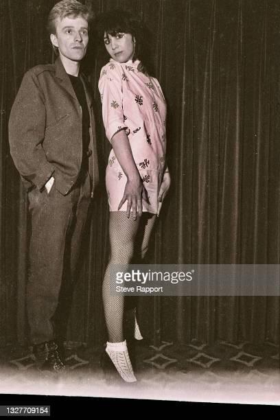 Josie Warden & Brian Moss of Vicious Pink, The Warehouse Leeds 3/21/82 .