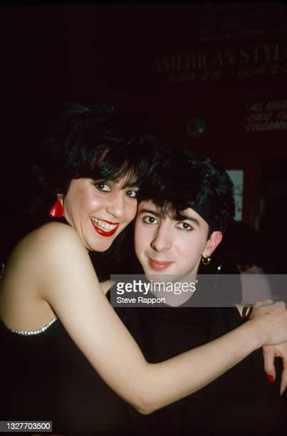 Josie Warden of Vicious Pink Phenomena & Marc Almond, The Warehouse, Leeds 3/21/82 .