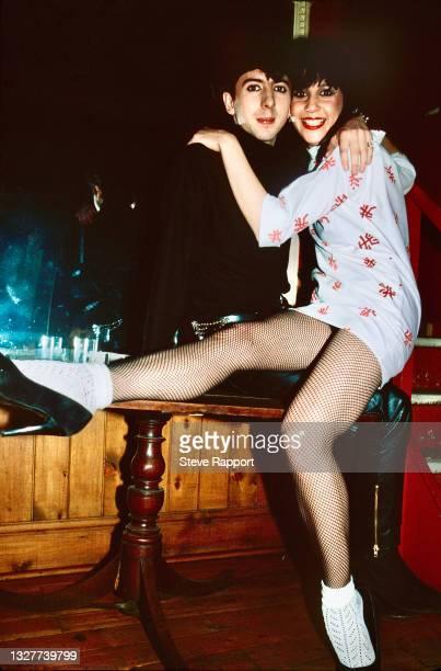 Josie Warden of Vicious Pink Phenomena, with Marc Almond, The Warehouse, Leeds 3/21/82 .