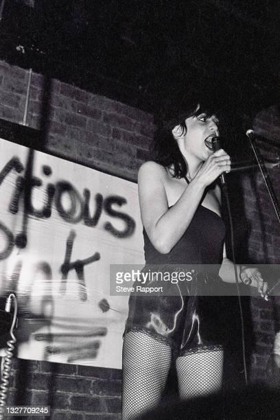 Josie Warden of Vicious Pink, The Warehouse Leeds 3/21/82 .