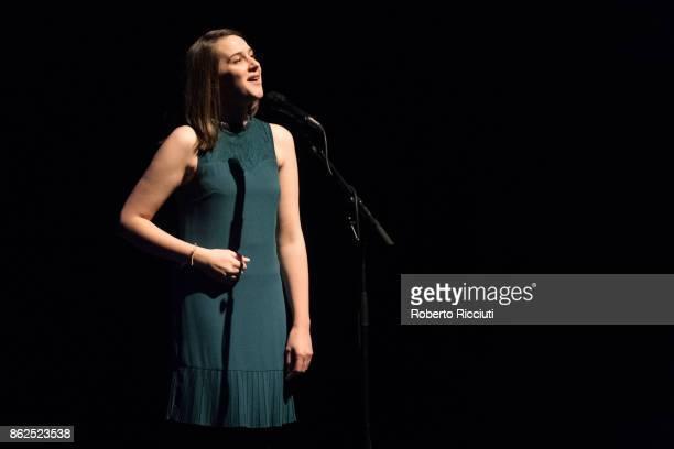 Josienne Clarke performs on stage at Usher Hall on October 17 2017 in Edinburgh Scotland