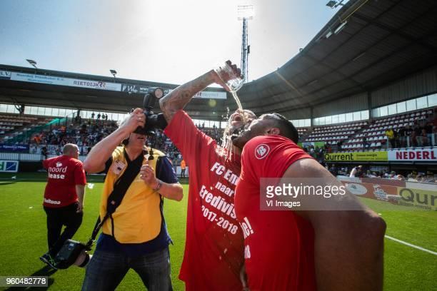Josimar Lima of FC Emmen Mario Bilate of FC Emmen during the Dutch Jupiler League playoffs final match between Sparta Rotterdam and FC Emmen at the...
