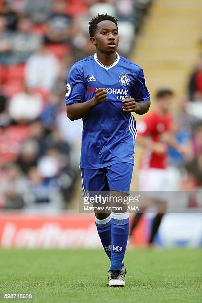 Josimar Quintero of Chelsea during the Premier League 2 fixture between Manchester United and Chelsea at Leigh Sports Village on August 28 2016 in...