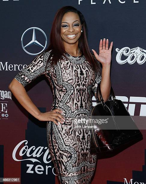 Josina anderson from ESPN attends 2014 ESPN The Party at Pier 36 on January 31 2014 in New York City