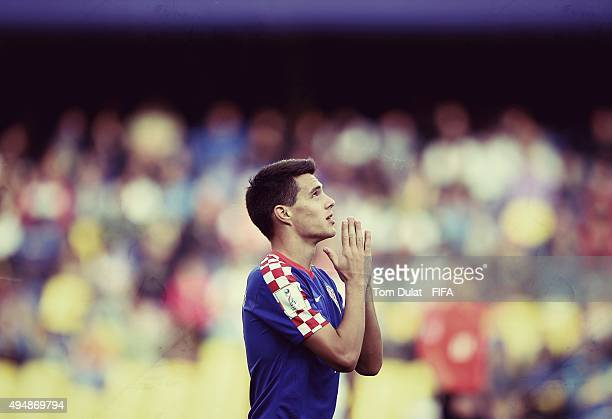 Josip Brekalo of Croatia celebrates his sides second goal during the FIFA U17 World Cup Chile 2015 Round of 16 match between Croatia and Germany at...