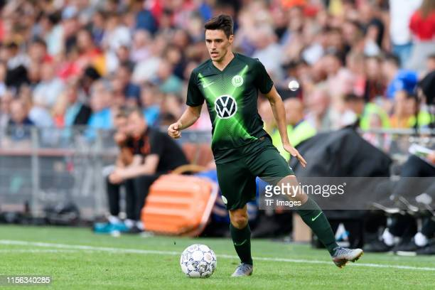 Josip Brekalo of VfL Wolfsburg controls the ball during the preseason friendly match between PSV Eindhoven and WfL Wolfsburg at Philips Stadion on...