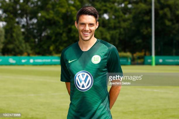 Josip Brekalo of VfL Wolfsburg poses during the team presentation at VfL Center on July 20 2018 in Wolfsburg Germany