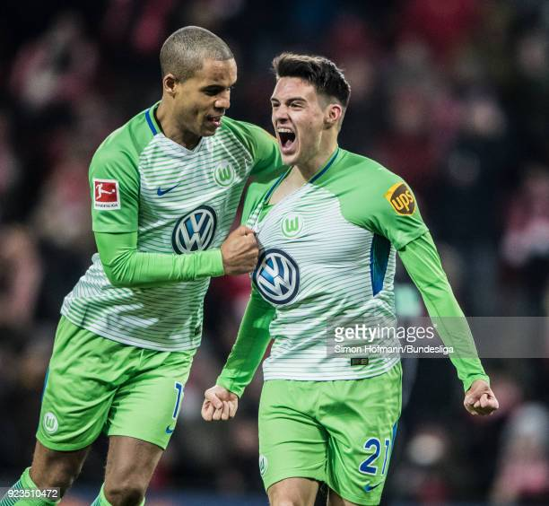 Josip Brekalo of Wolfsburg celebrates a goal during the Bundesliga match between 1 FSV Mainz 05 and VfL Wolfsburg at Opel Arena on February 23 2018...