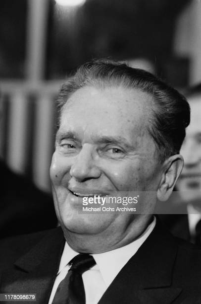 Josip Broz Tito the President of Yugoslavia at the United Nations General Assembly in New York City October 1963