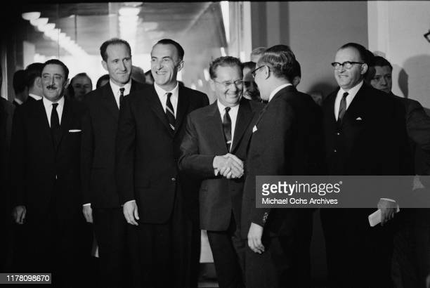 Josip Broz Tito the President of Yugoslavia attends the United Nations General Assembly in New York City October 1963