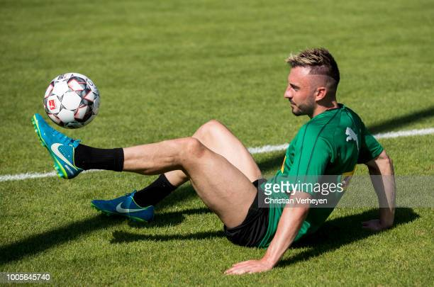 Josip Drmic during a Training Session at Borussia Moenchengladbach Training Camp at Stadion am Birkenmoos on July 26, 2018 in Rottach-Egern, Germany.