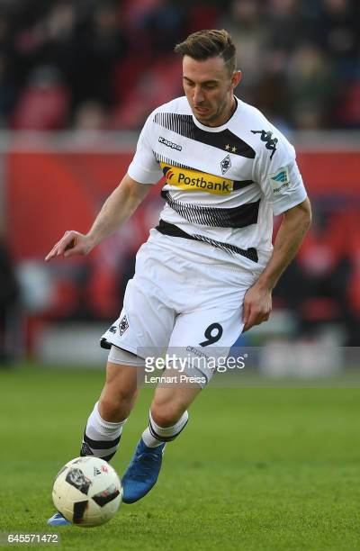 Josip Drmic of Borussia Moenchengladbach in action during the Bundesliga match between FC Ingolstadt 04 and Borussia Moenchengladbach at Audi...