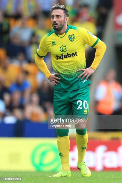 Josip Drmic of Norwich City during the Pre-Season Friendly match between Norwich City and Toulouse at Carrow Road on August 03, 2019 in Norwich,...