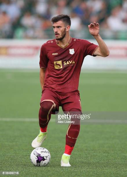 Josip Elez of HNK Rijeka during the UEFA Champions League second qualifying round second leg match between The New Saints FC and HNK Rijeka at Park...