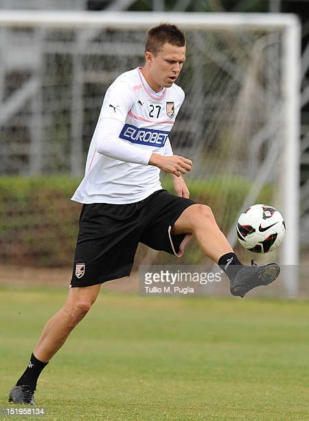 Josip Ilicic in action during a Palermo training session at Tenente Carmelo Onorato Sports Center on September 13 2012 in Palermo Italy