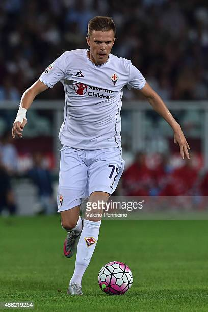 Josip Ilicic of ACF Fiorentina in action during the Serie A match between Torino FC and ACF Fiorentina at Stadio Olimpico di Torino on August 30 2015...