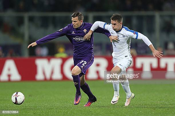 Josip Ilicic of ACF Fiorentina in action during the UEFA Europa League match between ACF Fiorentina and FC Slovan Liberec at Artemio Franchi on...