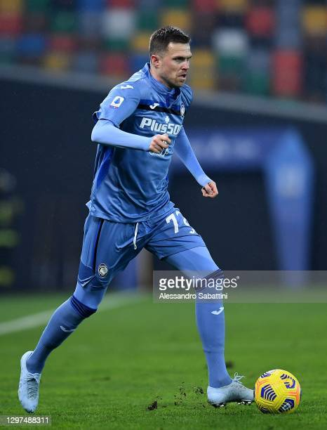 Josip Ilicic of Atalanta BC in action during the Serie A match between Udinese Calcio and Atalanta BC at Dacia Arena on January 20, 2021 in Udine,...