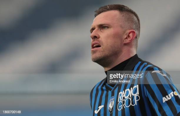 Josip Ilicic of Atalanta BC looks on during the Serie A match between Atalanta BC and Torino FC at Gewiss Stadium on February 06, 2021 in Bergamo,...