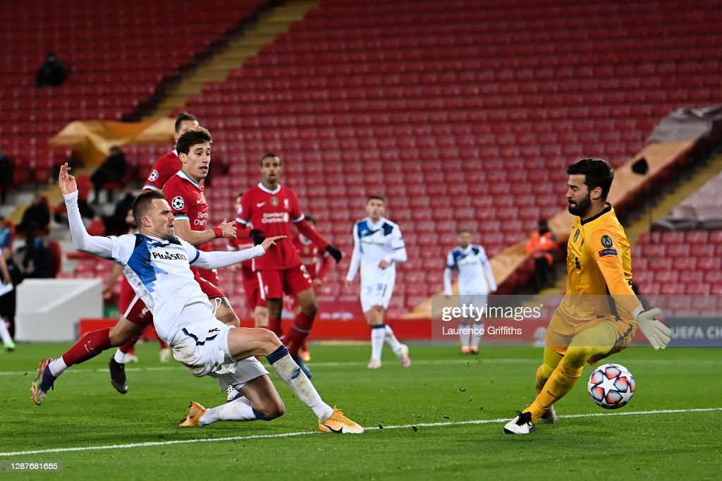 Liverpool FC v Atalanta BC: Group D - UEFA Champions League : Nachrichtenfoto