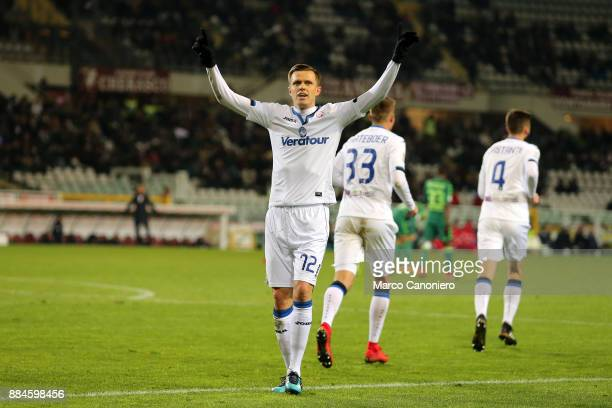 Josip Ilicic of Atalanta Bergamasca Calcio celebrate after scoring a goal during the Serie A match between Torino Fc and Atalanta Bergamasca Calcio...