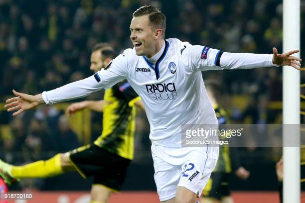 Josip Ilicic of Atalanta celebrates 12 during the UEFA Europa League match between Borussia Dortmund v Atalanta Bergamo at the Signal Iduna Park on...