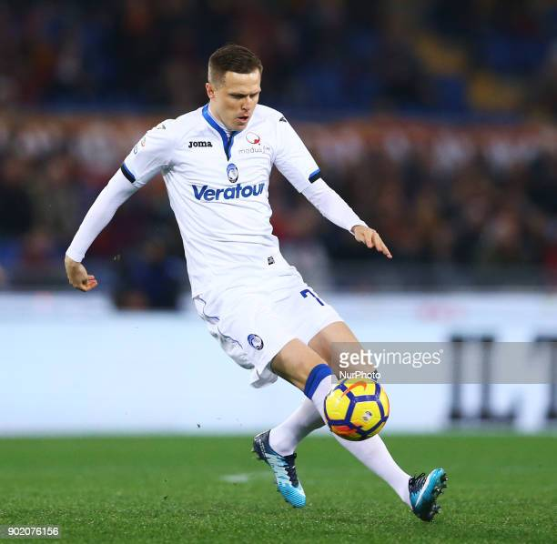 Josip Ilicic of Atalanta during the serie A match between AS Roma and Atalanta BC at Stadio Olimpico on January 6 2018 in Rome Italy