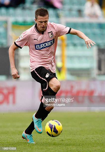 Josip Ilicic of Palermo during the Serie A match between US Citta di Palermo and UC Sampdoria at Stadio Renzo Barbera on November 11 2012 in Palermo...