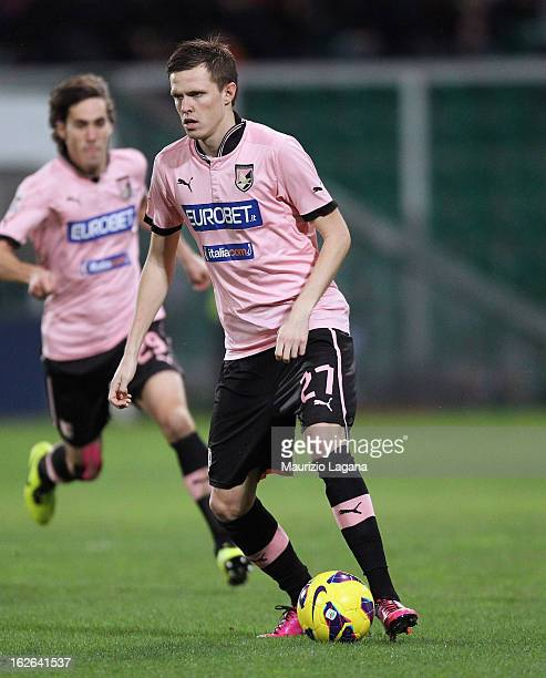 Josip Ilicic of Palermo during the Serie A match US Citta di Palermo and Genoa CFC at Stadio Renzo Barbera on February 23 2013 in Palermo Italy