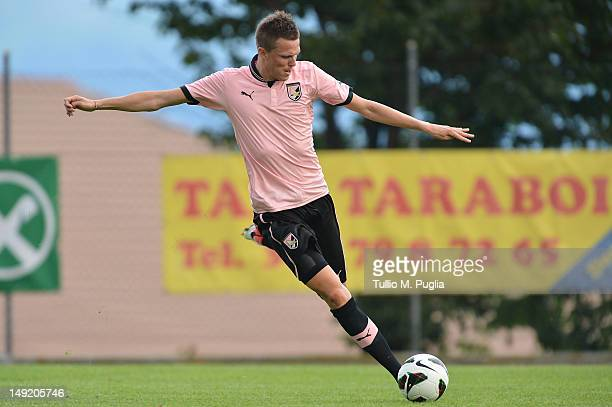 Josip Ilicic of Palermo in action during a preseason friendly match between US Citta di Palermo and Rappresentativa Alta Val Venosta at Sport Well...