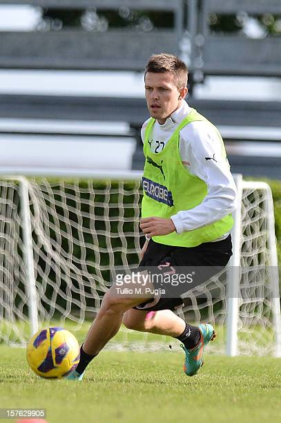Josip Ilicic of Palermo in action during a training session at Tenente Carmelo Onorato Sports Center on December 5 2012 in Palermo Italy