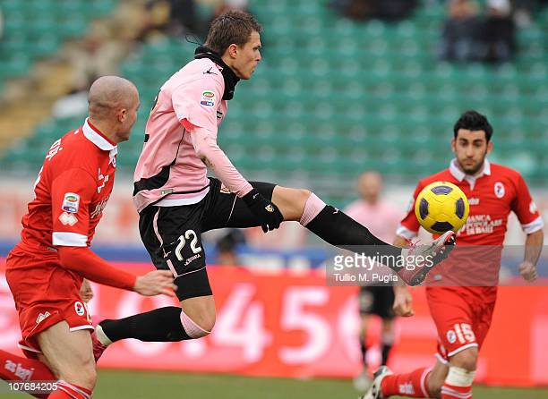 Josip Ilicic of Palermo in action during the Serie A match between Bari and Palermo at Stadio San Nicola on December 19 2010 in Bari Italy