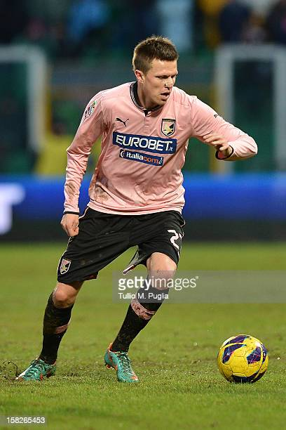 Josip Ilicic of Palermo in action during the Serie A match between US Citta di Palermo v Juventus FC at Stadio Renzo Barbera on December 9 2012 in...