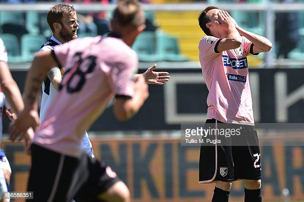 Josip Ilicic of Palermo looks dejected during the Serie A match between US Citta di Palermo and Bologna FC at Stadio Renzo Barbera on April 14 2013...